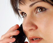 Woman on Telephone Coaching Session