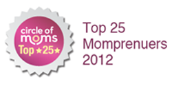 Circle of Moms Badge Top 25 momprenuers 2012