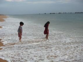 Kids beach surf