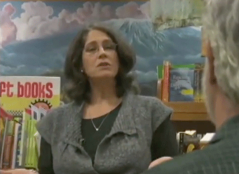 Sharon Silver of Proactive Parenting speaking in a school library.