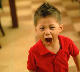 wild boy yelling
